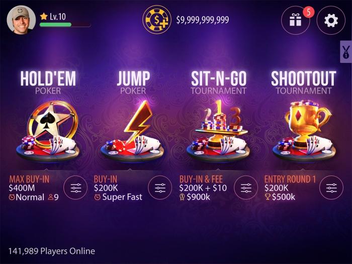 Zynga poker 2 Lobby
